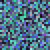 Seamless abstract background with green, black, blue squares Royalty Free Stock Photos