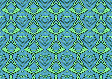 Seamless abstract background in green and blue tones. Seamless abstract backdrop with ornament from repeated patterns in green and blue tones, colorful Stock Images