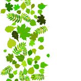 Seamless abstract background with green leaflets. EPS10 stock illustration