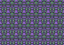 Seamless abstract background in green and purple tones. Seamless abstract backdrop with ornament from repeated patterns in green and purple tones, colorful Stock Photography