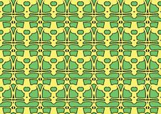 Seamless abstract background in green and yellow tones. Seamless abstract backdrop with ornament from repeated patterns in green and yellow tones, colorful Stock Image