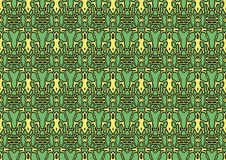 Seamless abstract background in green and yellow tones. Seamless abstract backdrop with ornament from repeated patterns in green and yellow tones, colorful Stock Illustration