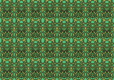 Seamless abstract background in green and yellow tones. Seamless abstract backdrop with ornament from repeated patterns in green and yellow tones, colorful Stock Images
