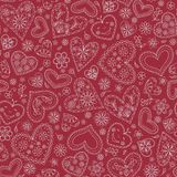 Seamless abstract background with hearts. Seamless red abstract background with hearts vector illustration