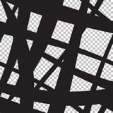 Seamless abstract background from intersecting black lines. Of different sizes Stock Photo