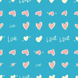 Seamless abstract background with love for valentine day, celebrations or anniversary. Digital, party, repeat & decoration. Seamless abstract background with royalty free illustration