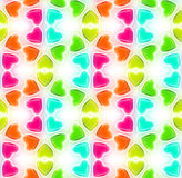 Seamless abstract background made of hearts Stock Photography