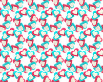 Seamless abstract background made of hearts. Seamless abstract background made of red and blue colored heart shapes Stock Illustration