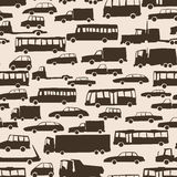 Seamless abstract background with many cars. Royalty Free Stock Image