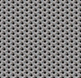 Seamless abstract background metallic honeycomb - hexagons with holes. Royalty Free Stock Photo