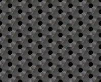 Seamless abstract background metallic honeycomb - hexagons with holes. Royalty Free Stock Image