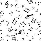 Seamless abstract background with music symbols. Vector illustration.  vector illustration