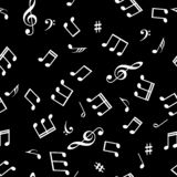 Seamless abstract background with music symbols. Vector illustration.  stock illustration