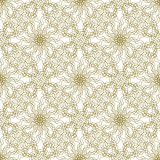 Seamless abstract background pattern with guilloche ornament. Seamless abstract background pattern with beige guilloche ornament on white vector illustration