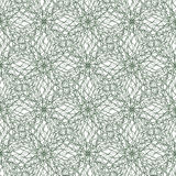 Seamless abstract background pattern with guilloche ornament. Seamless abstract background pattern with green guilloche ornament on white stock illustration