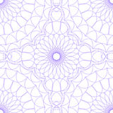 Seamless abstract background pattern guilloche ornament. Seamless abstract background pattern with lavender abstract guilloche ornament isolated on white royalty free illustration