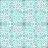 Seamless abstract background pattern with guilloche ornament. Seamless abstract background pattern with turquoise guilloche ornament on white royalty free illustration