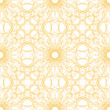 Seamless abstract background pattern guilloche ornament. Seamless abstract background pattern with yellow abstract guilloche ornament isolated on white stock illustration