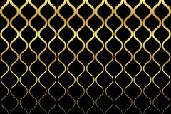 Seamless, abstract background pattern made with curvy gold colored lines royalty free stock image