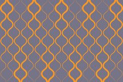 Seamless, abstract background pattern made with curvy yellow colored lines. Forming retro geometric shapes. Vintage, decorative vector art vector illustration