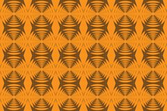 Seamless, abstract background pattern made with repetitive hexagon shapes. In yellow color. Decorative vector art vector illustration