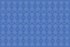 Seamless, abstract background pattern made with repetitive lines. Forming decagon shapes in blue color. Decorative vector art royalty free illustration