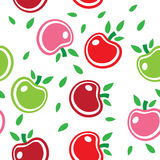 Seamless Abstract Background Pattern Of Colorful Apples Stock Image