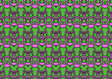 Seamless abstract background in pink and green tones. Seamless abstract backdrop with ornament from repeated patterns in pink and green tones, colorful Stock Images
