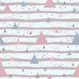 Seamless Abstract Background with pink triangles. Vector illustration Royalty Free Stock Photo