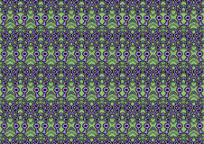 Seamless abstract background in purple and green tones. Seamless abstract backdrop with ornament from repeated patterns in purple and green tones, colorful Royalty Free Stock Image