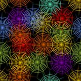 Seamless abstract background with rainbow cobwebby patterns Royalty Free Stock Photo