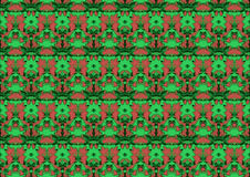 Seamless abstract background in red and green tones. Seamless abstract backdrop with ornament from repeated patterns in red and green tones, colorful background Royalty Free Stock Photos