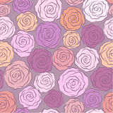 Seamless abstract background with roses. Seamless abstract background with stylization roses Royalty Free Stock Photo