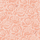 Seamless abstract background with roses. Vector Royalty Free Stock Photo