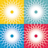 Seamless abstract background. With sun icons royalty free illustration