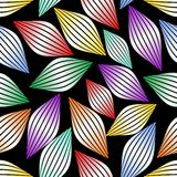 Seamless abstract background with stripped gradient multicolor elements  Stock Photography