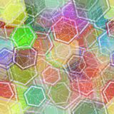 Seamless Abstract Background. Seamless Background, Abstract Tile Pattern, Colorful Geometrical Figures Hexagons, Lines and Circles. Eps10, Contains Stock Images