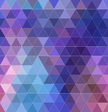 Seamless abstract background of triangles shapes. Colorful mosaic pattern. Purple geometric background with white contour Royalty Free Illustration