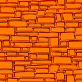 Seamless abstract background wall of rectangular orange bricks. Royalty Free Stock Images