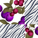 Seamless abstract berry pattern Stock Photography
