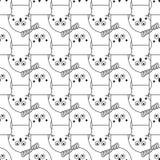 Seamless abstract bird pattern Stock Photo