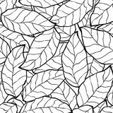 Seamless abstract black autumn leaves background. This is file of EPS8 format Royalty Free Stock Photo