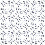 Seamless abstract black blue texture fractal patterns. On white background. Arranged in a staggered manner two large floral fractal patterns Royalty Free Stock Images