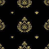 Seamless abstract black and gold classic pattern Stock Photo