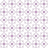 Seamless abstract black purple texture fractal patterns. On white background. Arranged in a staggered manner two large floral fractal patterns Stock Photography