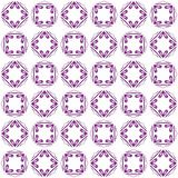 Seamless abstract black purple texture fractal patterns. On white background. Arranged in a staggered manner two large floral fractal patterns Royalty Free Stock Image