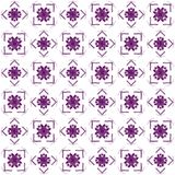 Seamless abstract black purple texture fractal patterns. On white background. Arranged in a staggered manner two large floral fractal patterns Stock Photos