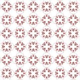 Seamless abstract black red texture fractal patterns. On white background. Arranged in a staggered manner two large floral fractal patterns Stock Photos