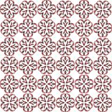 Seamless abstract black red texture fractal patterns. On white background. Arranged in a staggered manner two large floral fractal patterns Stock Images