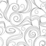 Seamless abstract black swirl background Royalty Free Stock Photo